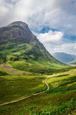 Footpath in in the Scotland highlands — Stock Photo