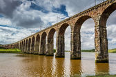 Vista dei tre ponti a berwick-upon-tweed — Foto Stock