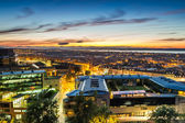 Sunset over the city of Edinburgh — Foto Stock