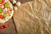 Close-up of the menu background for pizzerias No. 5 — Stock Photo