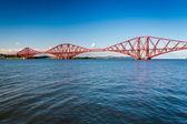 Firth of Forth Bridge in sunny day — Stock Photo