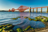 Small bay near Firth of Forth Bridge in Scotland — Stock Photo