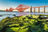 Coast at low tide near the Firth of Forth Bridge in Scotland — Stock Photo