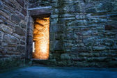 Dramaric light in the ancient castle — Stock Photo