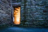 Desinformada luz no antigo castelo — Foto Stock