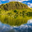 Beautiful views of the hill and lake in Scotland — Stock Photo #13621602
