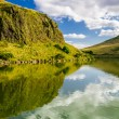 Beautiful view of the mountains and lake in Scotland — Stock Photo