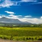 Beautiful views of the Scottish highlands - Panorama — Stock Photo