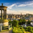Beautiful view of the city of Edinburgh — Stock Photo