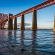 Stock Photo: Steel Bridge in Scotland and sunset