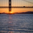 Stock Photo: Sunset over Forth Road Bridge in Scotland