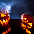 Stock Photo: Umpkins as Halloween holiday symbol