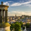 Beautiful view of the city of Edinburgh from Calton Hill - Stock Photo