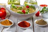 Preparations for the dinner of Italian cuisine — Stock Photo