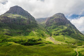 Mountain view in Scotland in the Glencoe — Stock Photo
