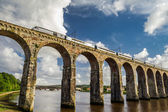 Stone railway bridge between Scotland and England — Stock Photo