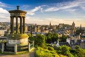 Beautiful view of the city of Edinburgh — Stock Photo