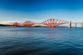 Firth of Forth Bridge in summer — Stock Photo