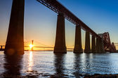 Sunset between the two bridges in Scotland — Stock Photo
