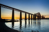 Sunset between the two bridges in Queensferry — Stock Photo
