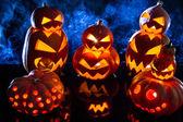 Gruppi di strani zucche per halloween — Foto Stock