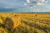 Windmill on the field in summer — Stock Photo