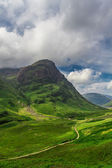 Footpath in the Scotland highlands in summer — Stock Photo