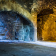 Stock Photo: Warm and cold light in stone chamber