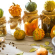 Stock Photo: Vegetables and spices in autumn basement