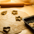 Stock Photo: Prepare baking Christmas cookies