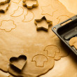 Gingerbread cookies just before baking — Stock Photo