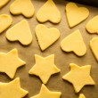 Christmas cookies just before baking — Stock Photo