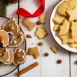 Royalty-Free Stock Photo: Christmas cookies with nuts and cinnamon