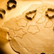 Close-up of gingerbread cookies before baking — Stock Photo #14612519