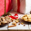 Different kinds of homemade gingerbread cookies — Stock Photo