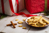 Cookies with Christmas gifts — Stock Photo