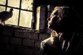 Sonho de liberdade em uma prisão psiquiátrica — Foto Stock