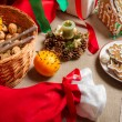 Christmas treats on table — Stock Photo #14876731