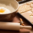 Prepare gingerbread cookies for Christmas — Stock Photo
