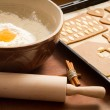 Prepare gingerbread cookies for Christmas - Stock Photo