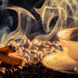 Stockfoto: Cinnamon scent of roasted coffee