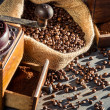Closeup of a coffee grinder — Stockfoto