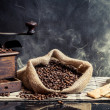 Stock Photo: Smell of vintage brewing coffee