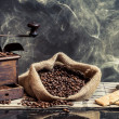 Scent of vintage brewing coffee — Stockfoto