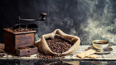 Smell of vintage brewing coffee — Stock Photo