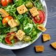 Royalty-Free Stock Photo: Closeup of healthy Caesar salad with croutons