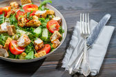 Healthy salad ready to eat — Stock Photo