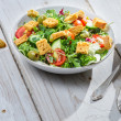 Stock Photo: Salad with aruguland tomatoes ready to eat