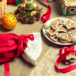 Christmas treats on the table — Stock Photo