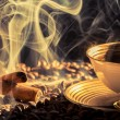Stock Photo: Cinnamon scent of roasted coffee